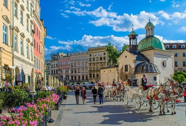 Krakow, old town, history